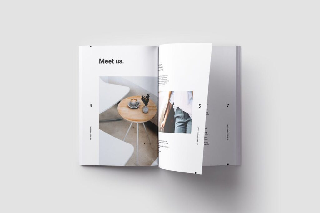 现代生活极致简洁家居设计/室内设计画册模版Voom Proposal插图(8)
