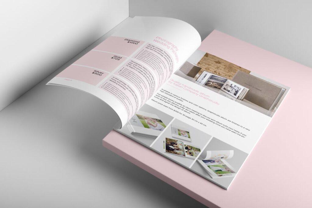 婚纱摄影价格指南/婚纱摄影工作室杂志画册模板Wedding Photography Price Guide插图(8)