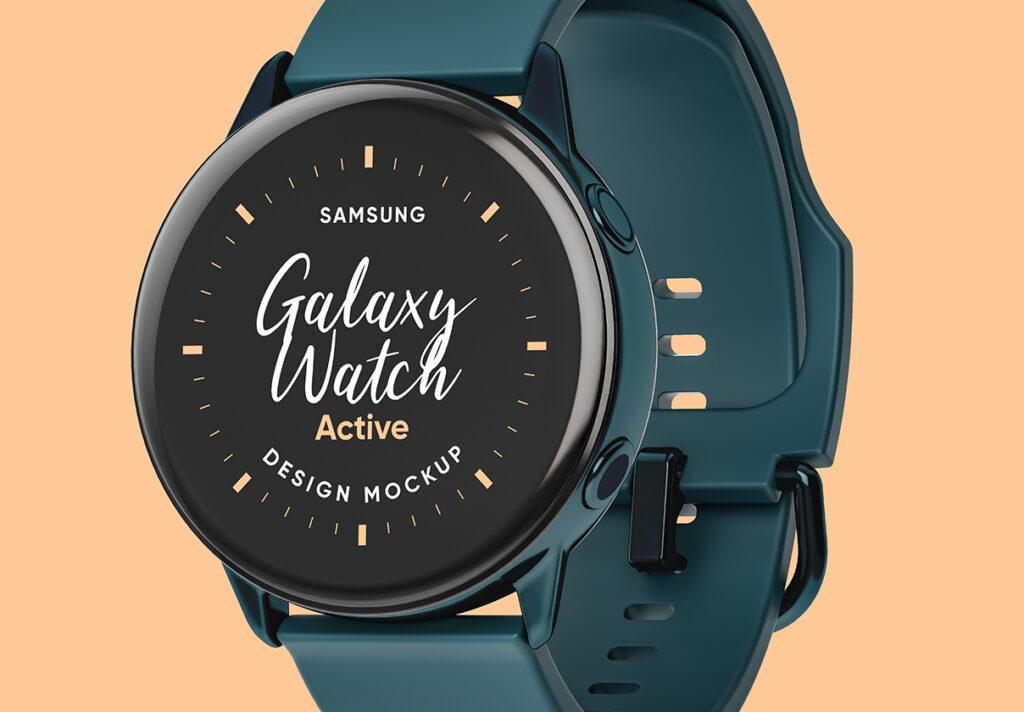 三星手表场景透视样机素材下载Samsung Galaxy Watch Design Mockup插图