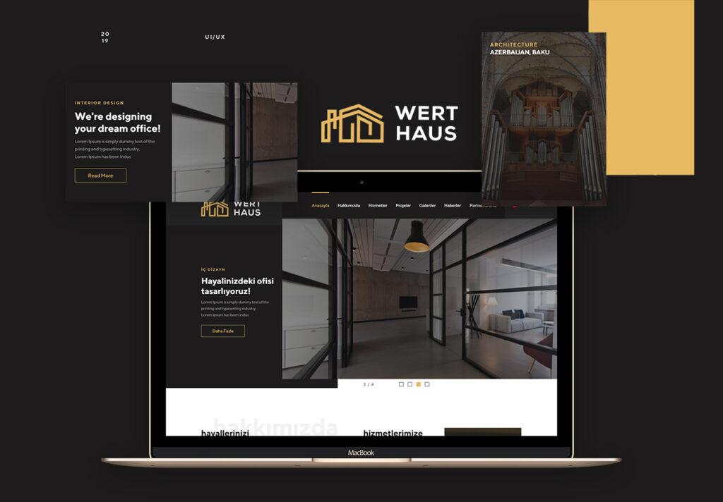 室内设计/室内装潢/装修公司门户介绍网站素材模板Werthaus Architecture UI Kit插图