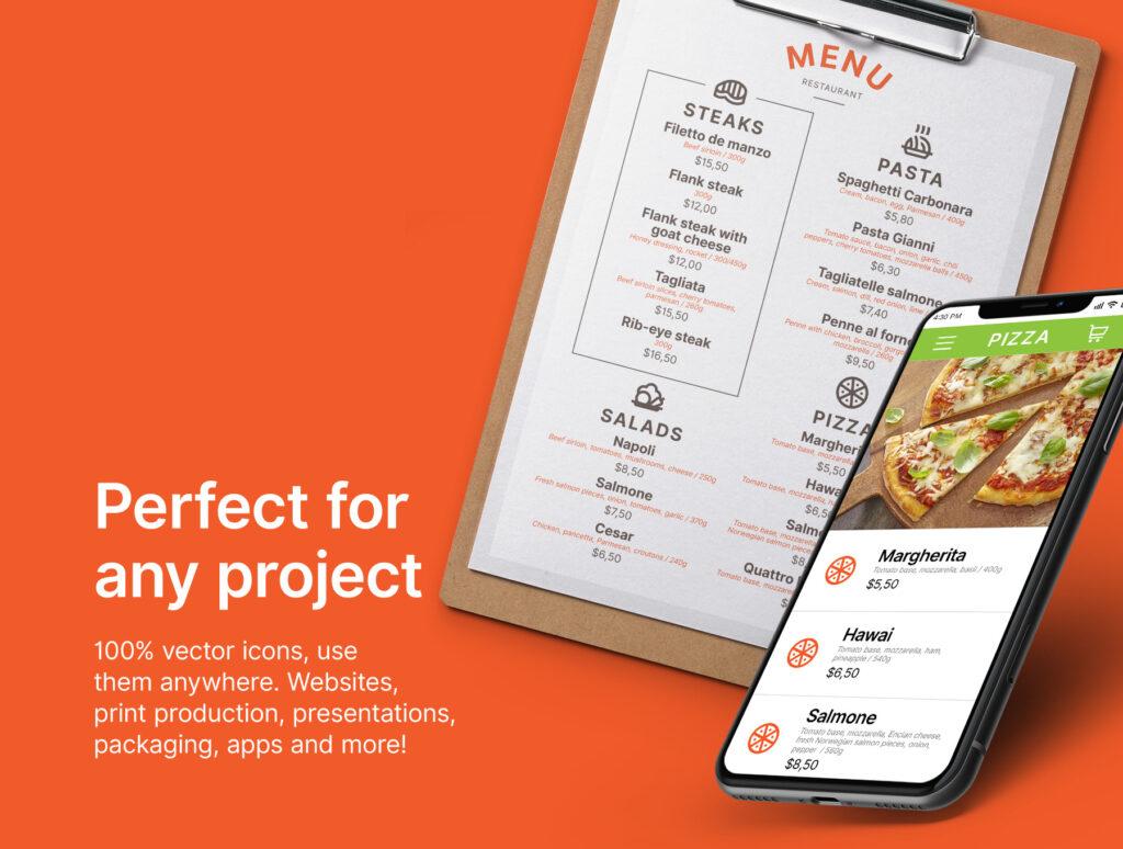 30个餐厅矢量图标线性矢量图标下载Restaurant icons插图(1)