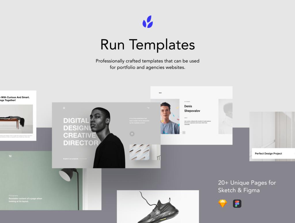 5个现代企业门户网站/产品介绍网站模板素材Run Templates 3 73 PREVIEW插图(1)