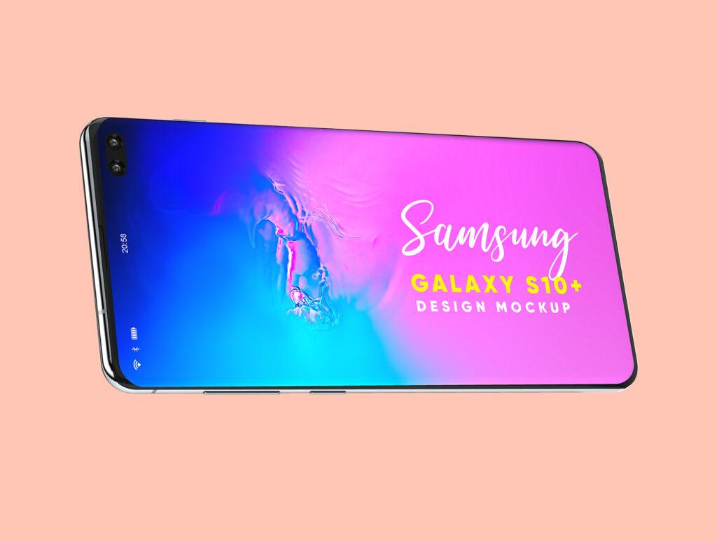 三星Galaxy S10+素材样机模板下载Samsung Galaxy S10+ Design Mockup 3插图(4)
