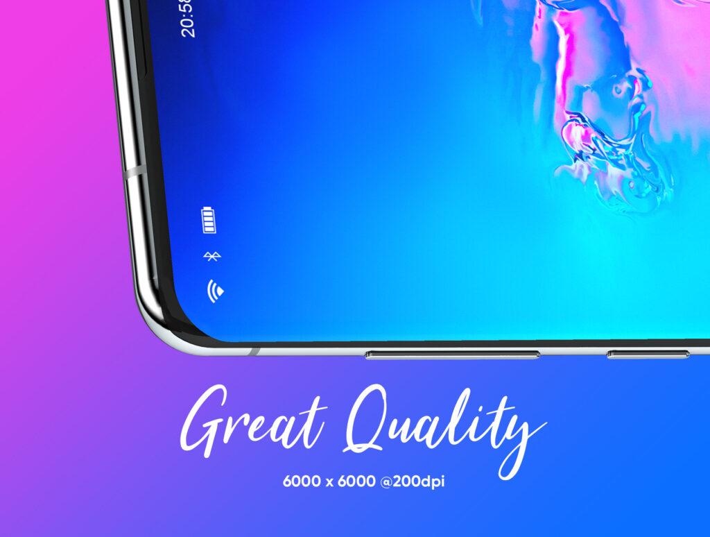 三星Galaxy S10+素材样机模板下载Samsung Galaxy S10+ Design Mockup 3插图(6)