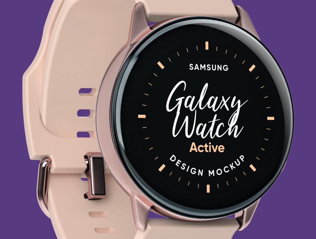 三星手表场景透视样机素材下载Samsung Galaxy Watch Design Mockup插图(2)