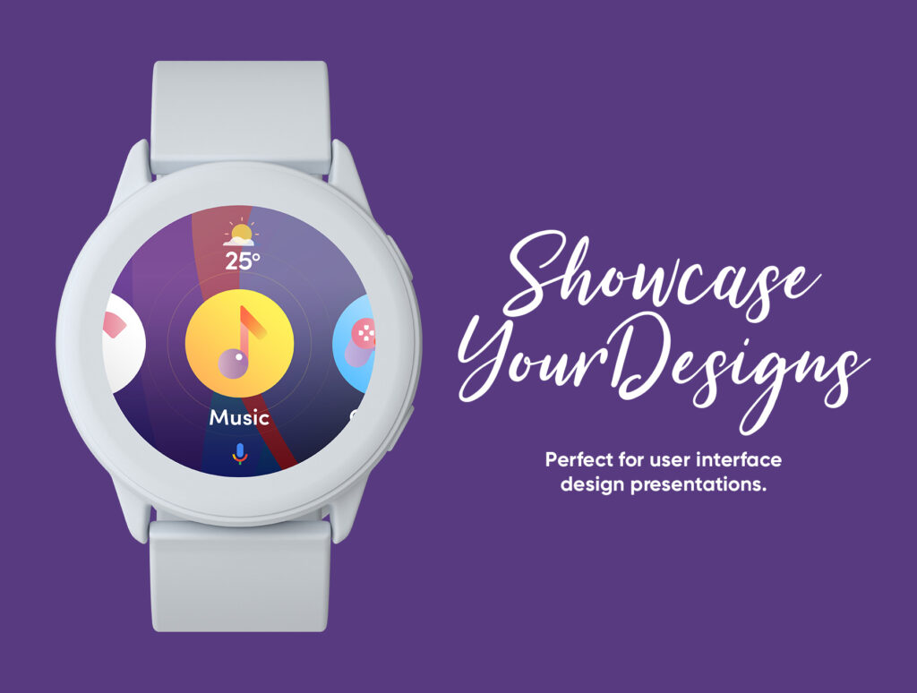 三星手表场景透视样机素材下载Samsung Galaxy Watch Design Mockup插图(3)