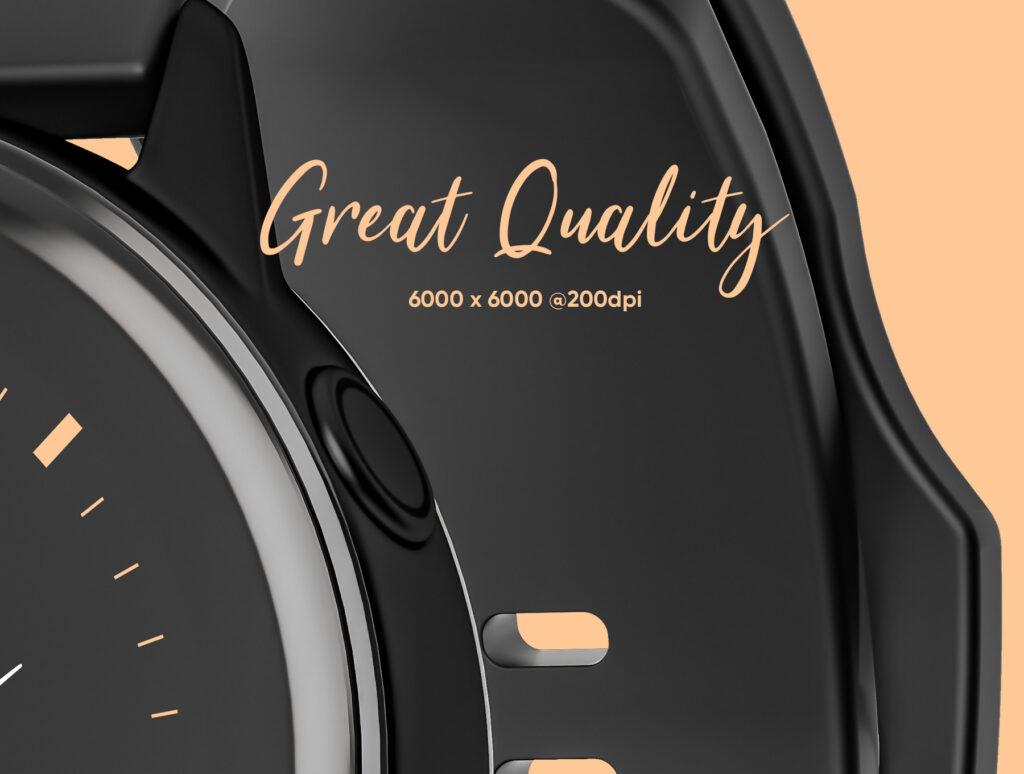 三星手表场景透视样机素材下载Samsung Galaxy Watch Design Mockup插图(6)