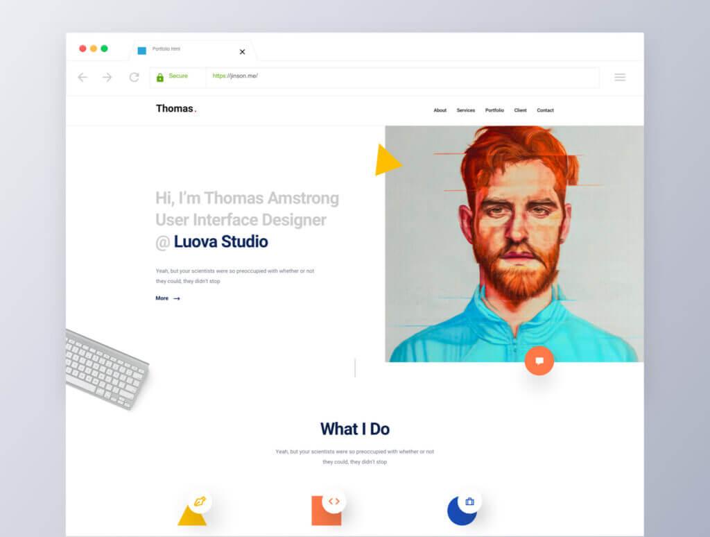 企业门户网站web端素材下载Sleek Portfolio HTML Template插图(5)