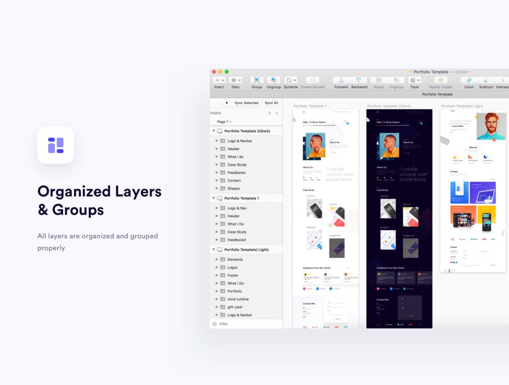 企业门户网站web端素材下载Sleek Portfolio HTML Template插图(6)