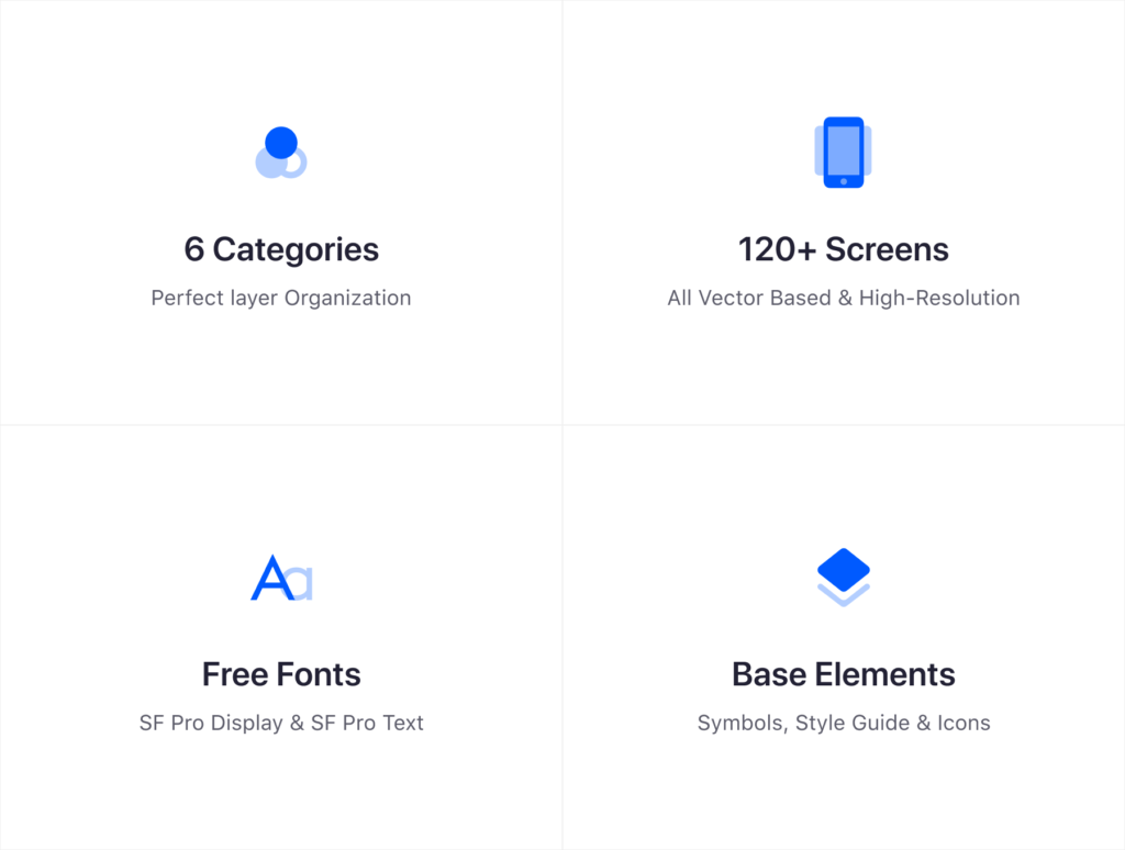 在线购物类电商购物APP概念设计素材源文件下载Stack UI Kit插图(6)