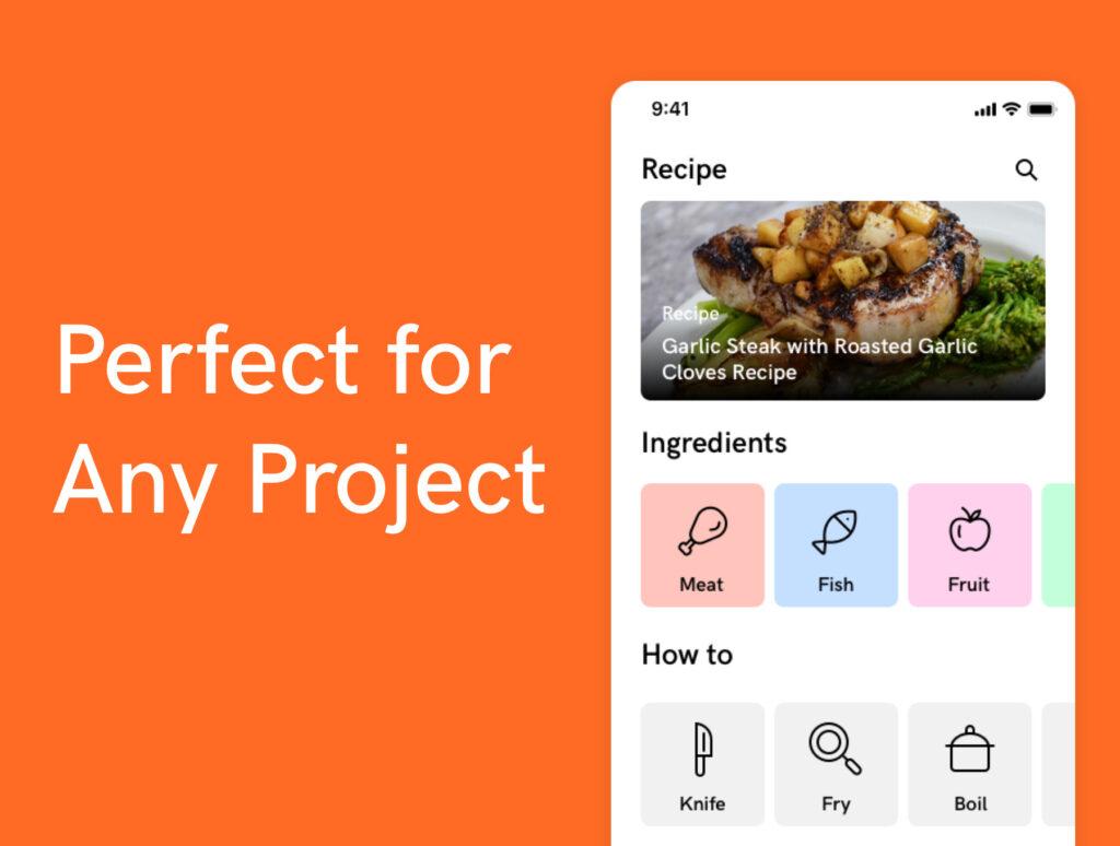 100个美食餐饮类矢量线性图标下载Super Simple Kitchen Icons 100插图(3)