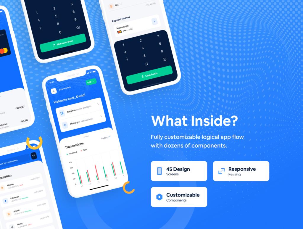 加密/钱包的iOS应用程序UI工具包/设计套件Surge iOS UI Kit插图(2)