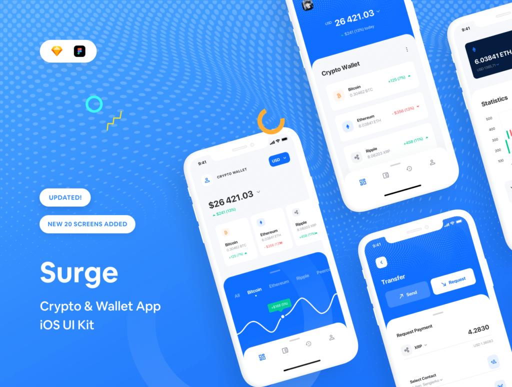 加密/钱包的iOS应用程序UI工具包/设计套件Surge iOS UI Kit插图(1)