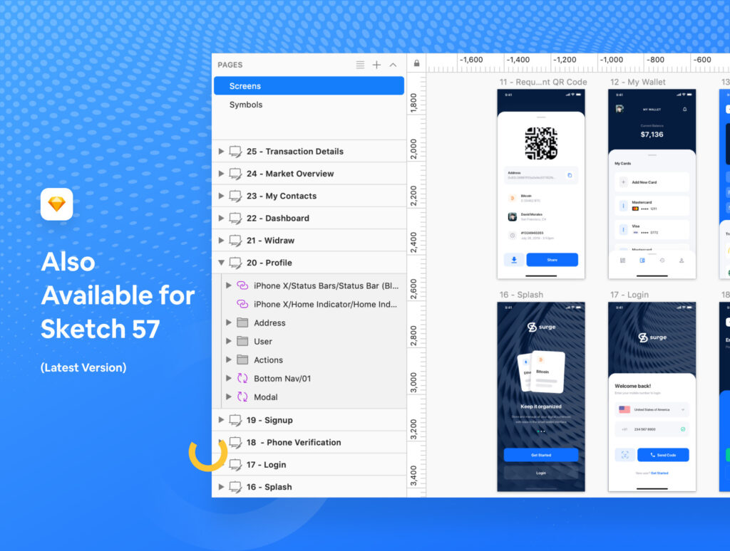 加密/钱包的iOS应用程序UI工具包/设计套件Surge iOS UI Kit插图(4)