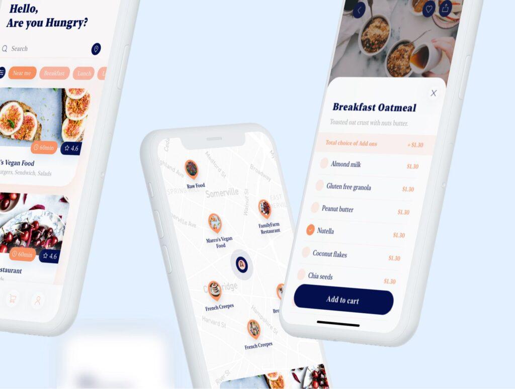 餐厅及订餐APP美食类界面设计套件下载Swify delivery app iOS UI Kit插图(2)