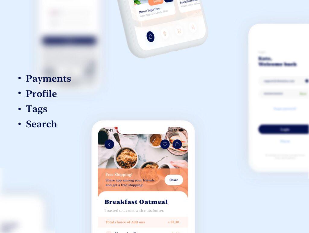 餐厅及订餐APP美食类界面设计套件下载Swify delivery app iOS UI Kit插图(4)