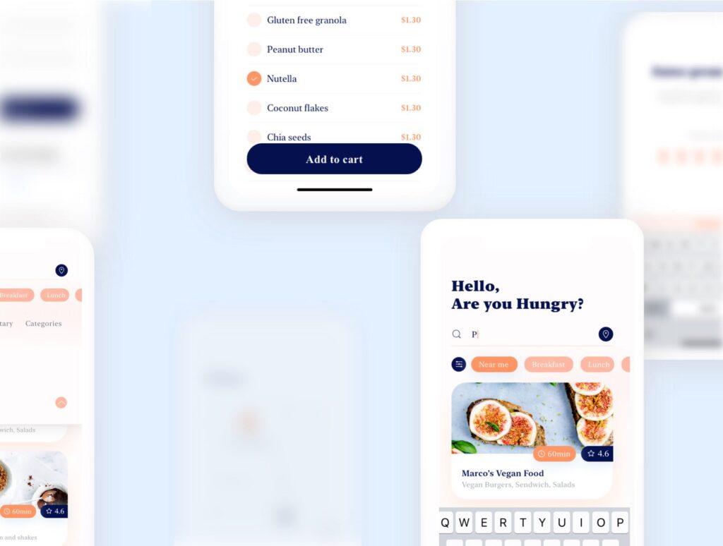 餐厅及订餐APP美食类界面设计套件下载Swify delivery app iOS UI Kit插图(6)