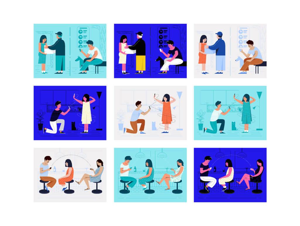 现代矢量插图集/浪漫主题插画矢量素材Swipe Illustrations插图(6)