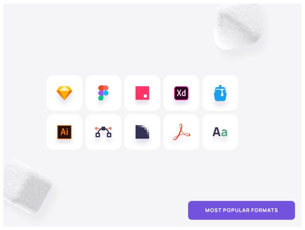 1000个系统图标线性矢量图标源文件下载The Icon of Perfect in every pixel插图(2)