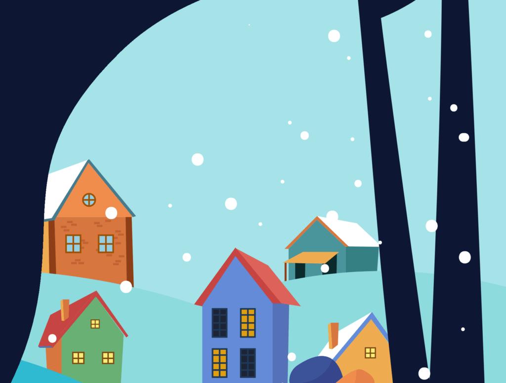 网站banner插图/冬日滑雪矢量插画素材TunTun Startup Website Page插图(11)