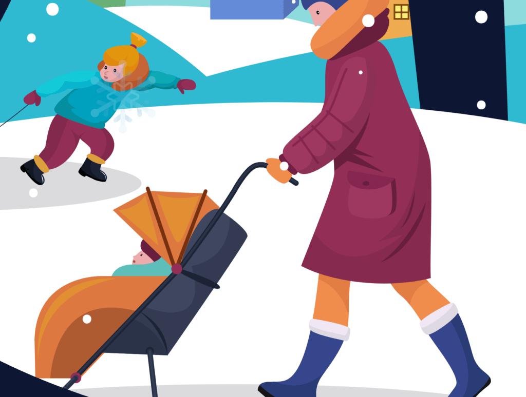 网站banner插图/冬日滑雪矢量插画素材TunTun Startup Website Page插图(13)
