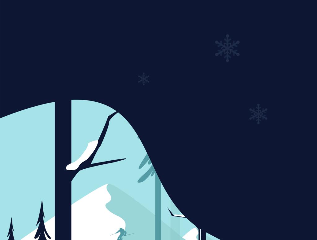 网站banner插图/冬日滑雪矢量插画素材TunTun Startup Website Page插图(4)