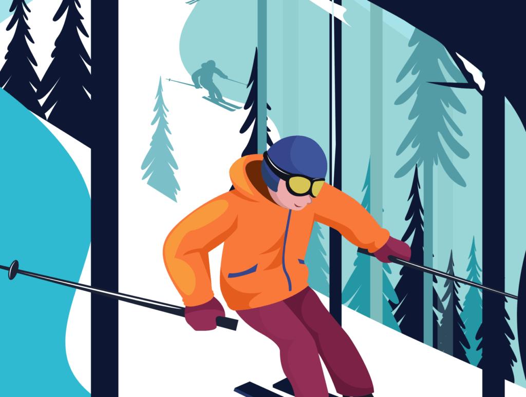 网站banner插图/冬日滑雪矢量插画素材TunTun Startup Website Page插图(6)