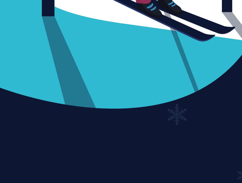 网站banner插图/冬日滑雪矢量插画素材TunTun Startup Website Page插图(8)