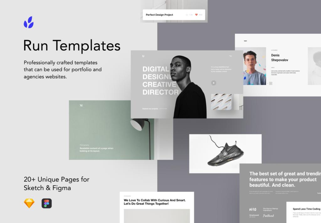 5个现代企业门户网站/产品介绍网站模板素材Run Templates 3 73 PREVIEW插图