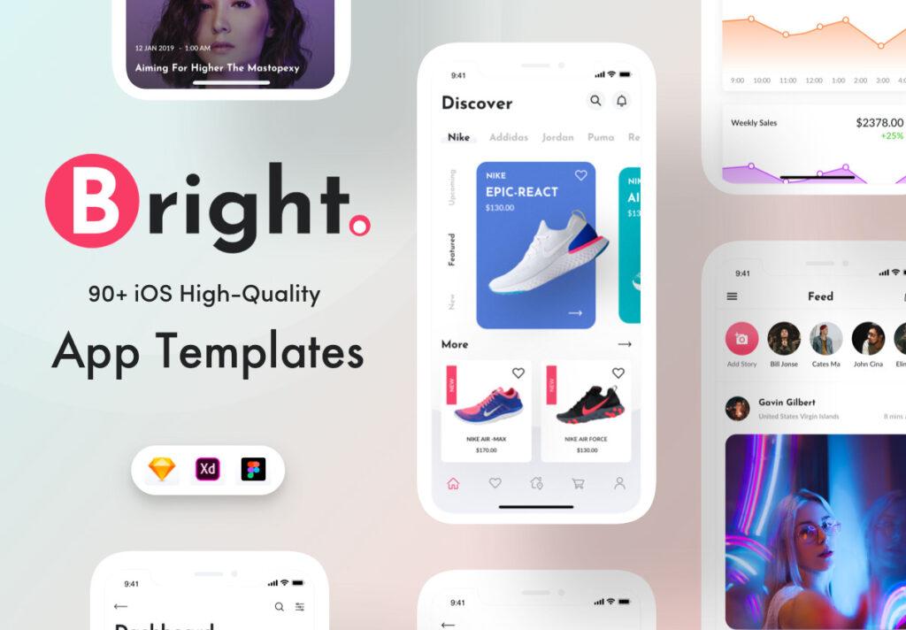 电子商务主题购物概念UI界面设计套件素材Bright App UI Kit插图