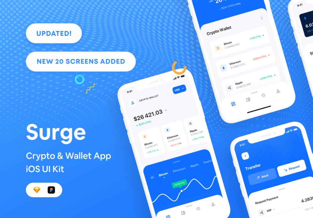 加密/钱包的iOS应用程序UI工具包/设计套件Surge iOS UI Kit插图