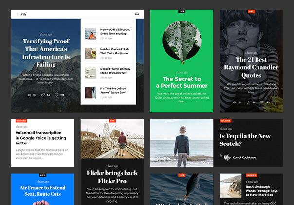 现代博客/杂志或新闻门户网站素材下载Snug. UI Kit插图