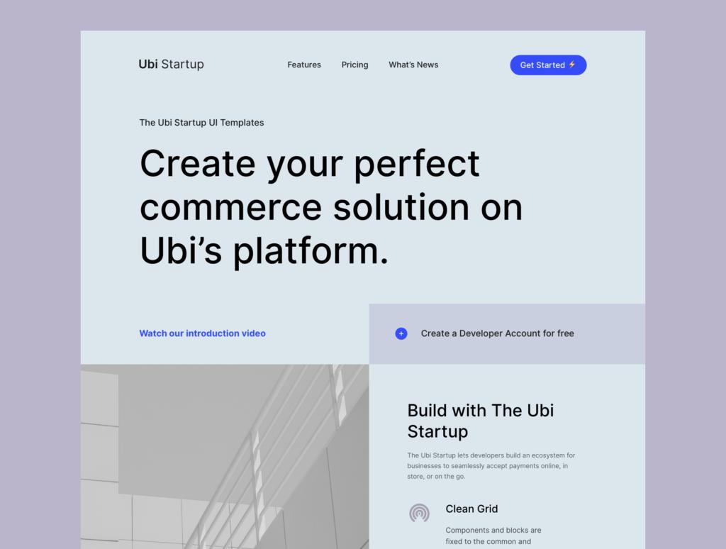 极简风互联网概念企业网站主题设计素材Ubi Startup Templates插图(2)