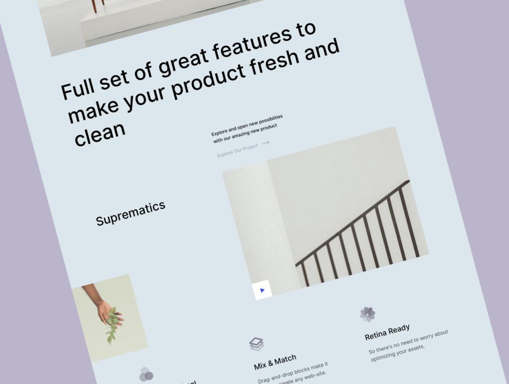 极简风互联网概念企业网站主题设计素材Ubi Startup Templates插图(4)