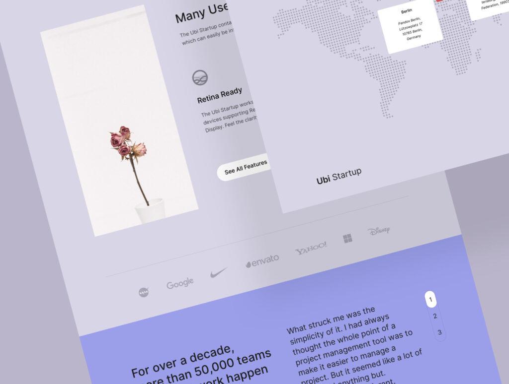 极简风互联网概念企业网站主题设计素材Ubi Startup Templates插图(5)