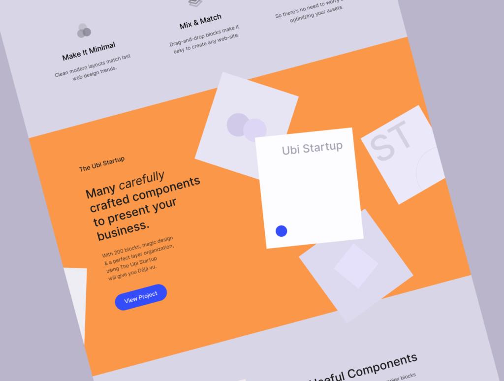极简风互联网概念企业网站主题设计素材Ubi Startup Templates插图(6)