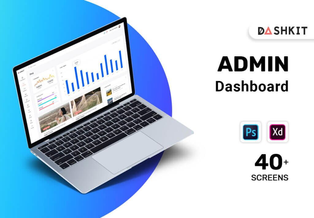 后台仪表盘可视化数据模型素材下载Dashkit  Admin Dashboard UI Kit插图
