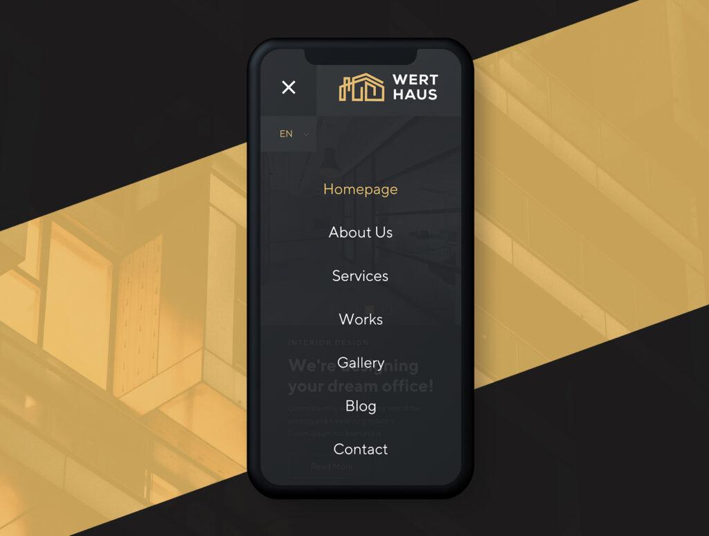 室内设计/室内装潢/装修公司门户介绍网站素材模板Werthaus Architecture UI Kit插图(2)