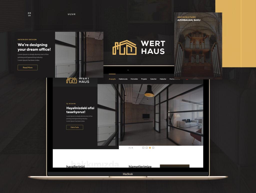 室内设计/室内装潢/装修公司门户介绍网站素材模板Werthaus Architecture UI Kit插图(1)