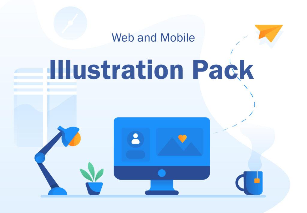 现代企业办公场景插画/移动界面素材下载Illustration Pack插图(4)