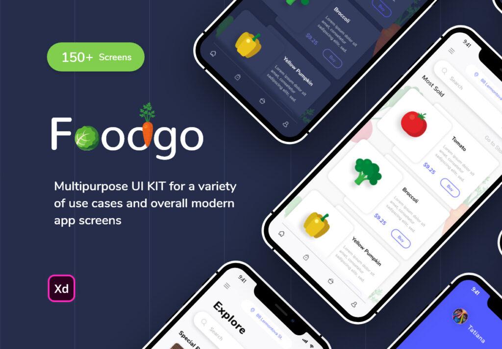 餐厅外卖应用程序设计条件素材源文件下载FoodGo the Best Grocery and Restaurant App插图