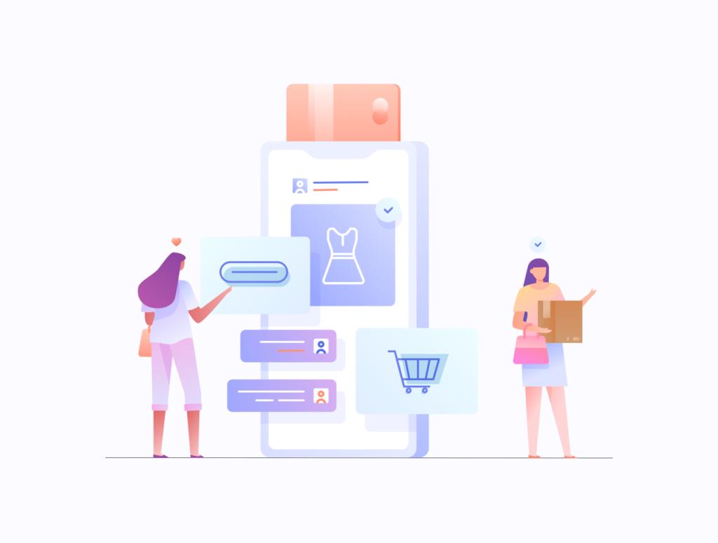 电商购物/办公场景主题概念矢量插画素材E-commerce Business Illustration KIT插图(4)