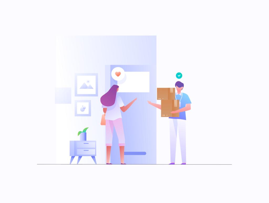 电商购物/办公场景主题概念矢量插画素材E-commerce Business Illustration KIT插图(7)
