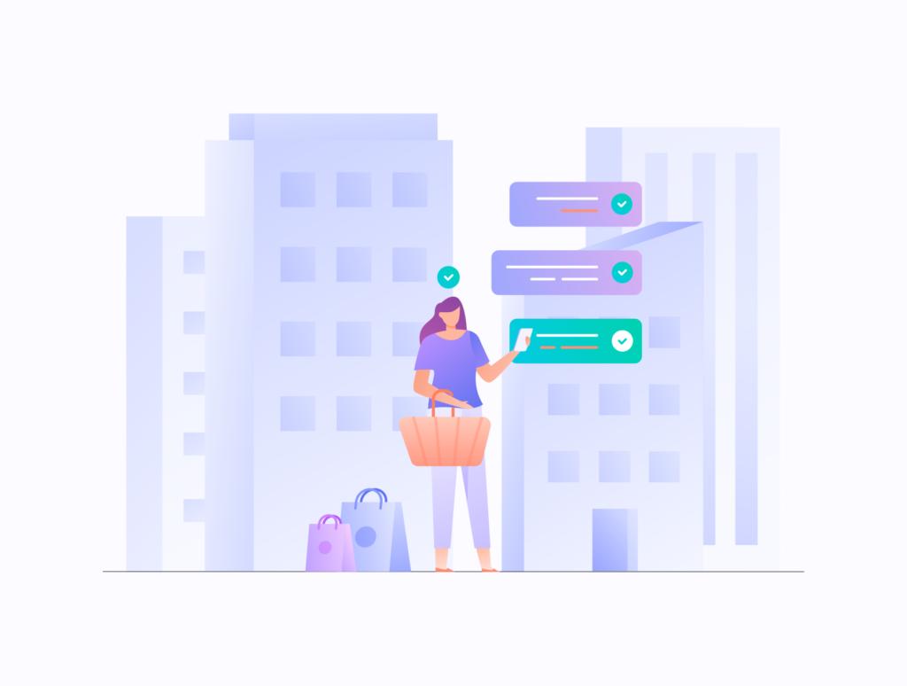 电商购物/办公场景主题概念矢量插画素材E-commerce Business Illustration KIT插图(8)