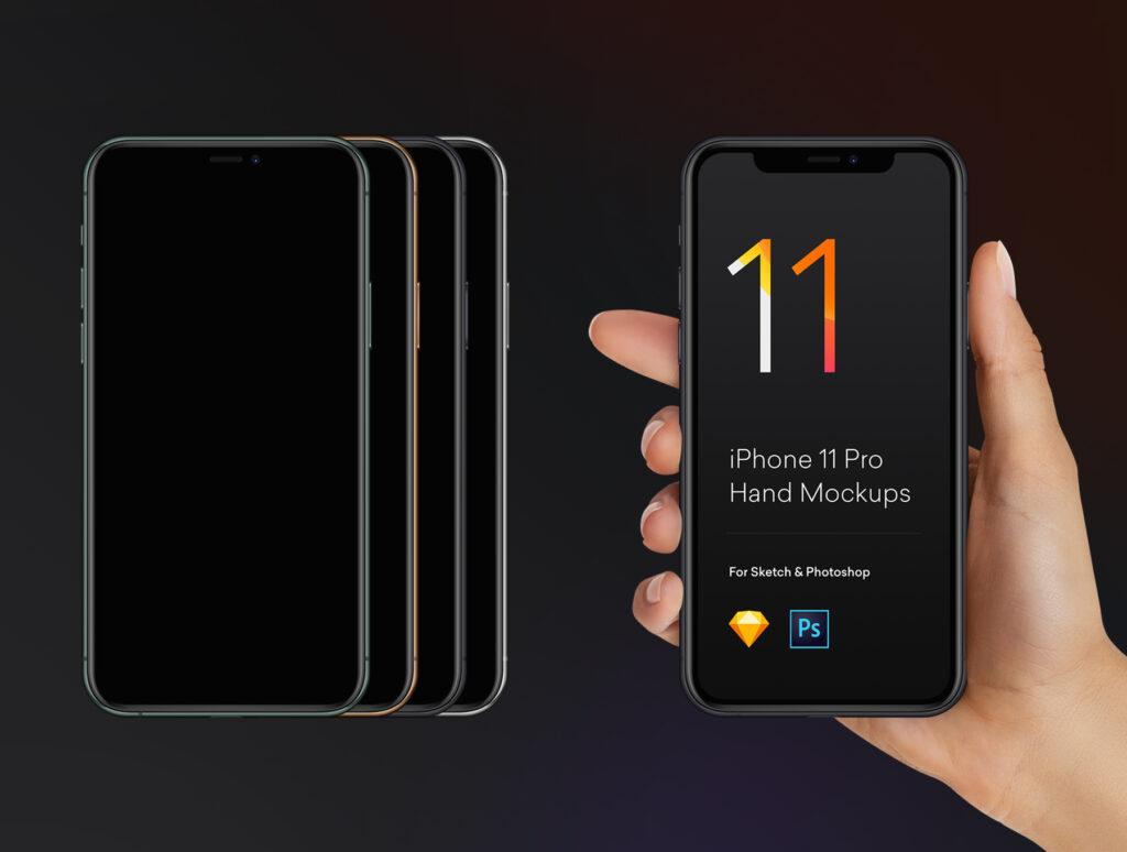 三星苹果谷歌手机样机手持手机样机素材下载Hand Mockups iPhone 11, S10, Pixel 4插图(1)