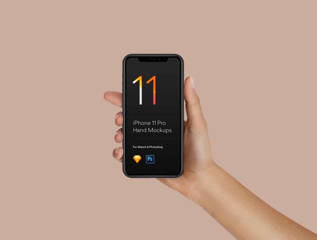 三星苹果谷歌手机样机手持手机样机素材下载Hand Mockups iPhone 11, S10, Pixel 4插图(6)