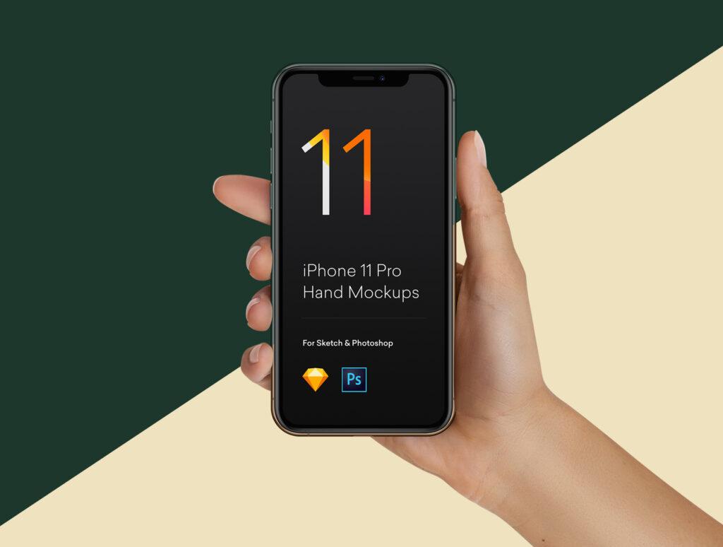 三星苹果谷歌手机样机手持手机样机素材下载Hand Mockups iPhone 11, S10, Pixel 4插图(7)