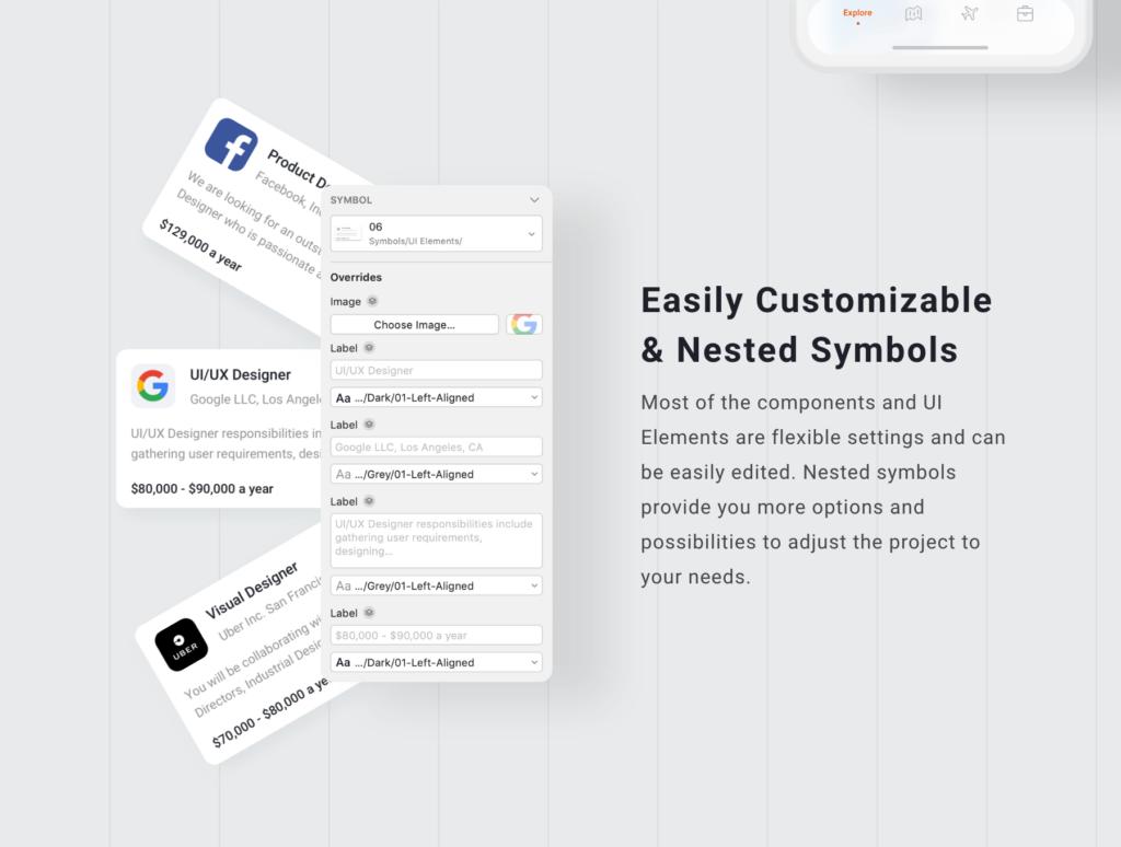 旅行类概念主题UI界面设计套件素材Nomad iOS UI Kit插图(3)