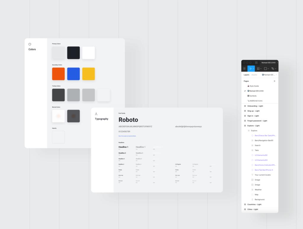 旅行类概念主题UI界面设计套件素材Nomad iOS UI Kit插图(9)