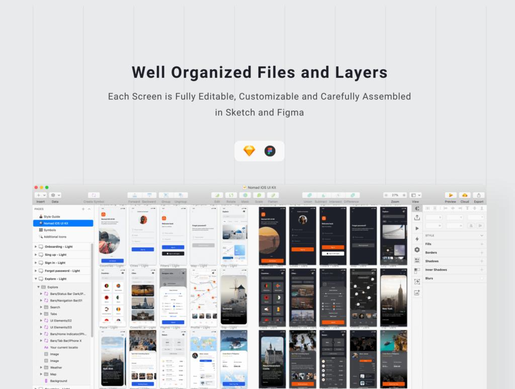 旅行类概念主题UI界面设计套件素材Nomad iOS UI Kit插图(10)
